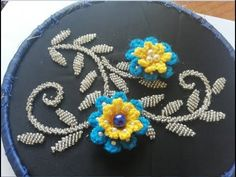 hand embroidery;amazing trick flower embroidery work design. - YouTube Flower Embroidery, Beaded Embroidery, Hand Embroidery, Channel, Beads, Mirror, Videos, Amazing, Youtube