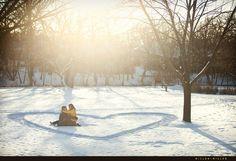 Winter engagement photo idea