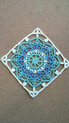 Image of Nina& closet 29 Crochet Motif Patterns, Crochet Blocks, Square Patterns, Crochet Squares, Crochet Granny, Filet Crochet, Crochet Doilies, Granny Squares, Thread Crochet