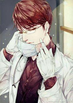 The red doctor cool anime guys, anime boys, cute anime boy, anime kawaii Anime Boys, Cool Anime Guys, Hot Anime Boy, Handsome Anime Guys, Anime Sexy, M Anime, Anime Art, Magic Anime, Fanart Kpop