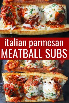 Italian Meatball Subs. Homemade beef parmesan meatballs in a fresh marinara sauce topped with melted mozzarella cheese all on toasted bread. The best meatball sub recipe! Meatball Sub Sandwiches, Meatball Subs, Meatball Marinara Sub, Best Meatballs, Italian Meatballs, Recipes With Meatballs, Best Italian Meatball Recipe, Pork Meatballs, Beef Recipes