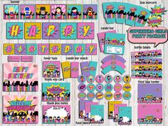 Supergirls Party Package Superhero Girls by RainbowSweetStudio