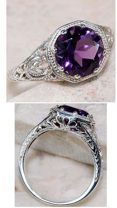 1930s Purple Amethyst Ring by VGBJEWLS on Etsy