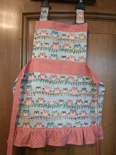Girl's owl apron