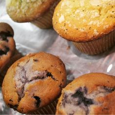 Welcome to MainStreet 1908  we sell ice cream, coffee & tea in Camrose, Alberta. We also have treats like these lemon poppyseed or blueberry muffins