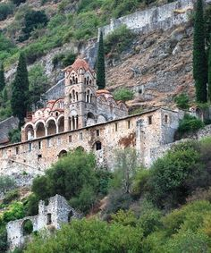 Pantanassa - (female monastery), the last church structure to be built in 1428 at Mystras, Lakonia - the ancient Byzantine city in Greece. NB: the Ottoman Turks did not take Mystras until 1460, long after the fall of Constantinople.