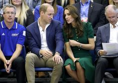 Kate Middleton Photos Photos - Prince William, Duke of Cambridge and Catherine Duchess of Cambridge watch a volleyball match on a visit to Kelowna University during their Royal Tour of Canada on September 27, 2016 in Kelowna, Canada.