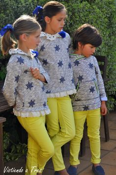 Vistiendo a tres. Family Outfits, Kids Outfits, Little Girl Fashion, Kids Fashion, Kids Wardrobe, Future Daughter, Niece And Nephew, Kid Styles, How To Look Classy