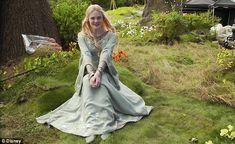 Elle Fanning lookin regal as Princess Aurora in Maleficent from Vanity Fair.