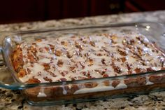 Cinnamon Roll Casserole - This is the perfect Christmas Morning Breakfast!!  It's really easy to prepare and makes your house smell amazing. One of my all time favorite breakfasts.