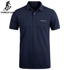 Pioneer Camp Brand Clothing Men Polo Shirt Men Business Casual Solid Male Polo S Polo Shirt Brands, Slim Fit Polo Shirts, Casual Shirts For Men, Polos Tommy Hilfiger, Polos Lacoste, Pioneer Camp, Business Casual Men, Denim Jeans Men, Mens Tees