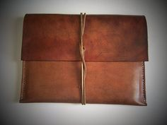 Leather Ipad Sleeve/ Case/ Envelope for iPad AIR or iPad Full Grain Leather. Handmade by BayTowne - Ipad Pro - Trending Ipad Pro for sales. - Leather Ipad Sleeve/ Case/ Envelope for iPad AIR or iPad Full Grain Leather. Handmade by BayTowneLeatherUSA. Leather Dye, Brown Leather, Erica, Leather Portfolio, Ipad Sleeve, Best Handbags, Christmas Shopping, Ipad Case, I Shop