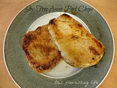Soy-Free Honey Ginger Asian Pork Chops
