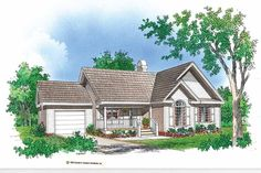 Eplans Cottage House Plan - Scenic Views - 1298 Square Feet and 3 Bedrooms from Eplans - House Plan Code HWEPL07044