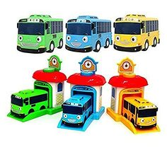 The Little Bus Tayo Shooting Car Bus and Staion Set Rogi ...