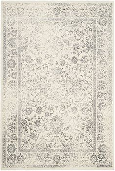 Amazon.com: Safavieh Adirondack Collection ADR109C Ivory and Silver Oriental Vintage Distressed Area Rug (10' x 14'): Kitchen & Dining