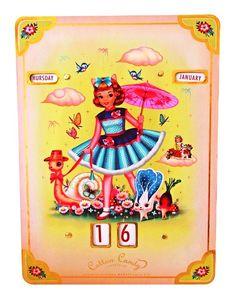 The cotton candy girl   Kalenders   Kipkees  Geweldig toch helemaal nieuw en o zo retro!