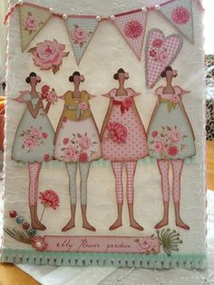 Tilda, scrapbooking, paper, design, create, craft. canvas. picture. hanging, banner, love, swap, atered, art