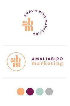 Amalia Biro Marketing. Logo Design by Salt Design Co.