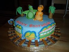For Batter or For Worse...: 4th Birthday Cake: Dinosaur Train