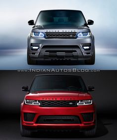 Land Rover has given a second-gen Range Rover Sport a facelift. Here's a visual comparison between 2018 Range Rover Sport and 2014 Range Rover Sport. New Range Rover Sport, Range Rover Svr, G63 Amg, Benz G, Honda Cars, Suv Cars, G Wagon, Land Rover Defender, Old School Muscle Cars