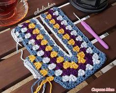 В основе бабушкин квадрат. Простой джемпер - Все в ажуре... (вязание крючком) - Страна Мам Crochet Tunic, Crochet Clothes, Crochet Top, Crochet Stitches, Crochet Patterns, Crochet Woman, Crochet Fashion, Dory, Needlework