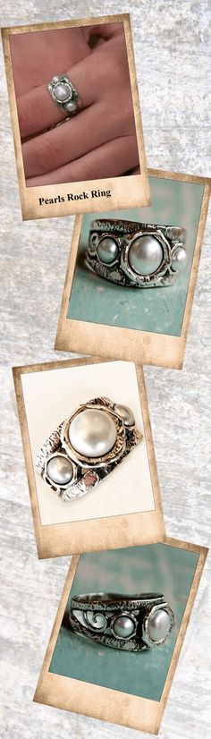 This beautiful and versatile ring can be both dressed up and down and will make any outfit pop. Three white freshwater pearls rock a sterling band with swirl detail.