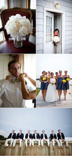 Nautical Chic New England Wedding..love the groomsmen attire