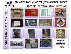 400 Miles to Disneyland: SPECIAL EDITION Disneyland Scavenger Hunt: Main Street