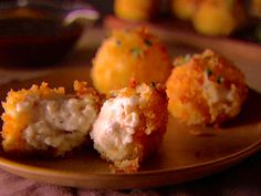 Smoked Mozzarella and Ricotta Fritters & Balsamic Dipping Sauce: Food Network