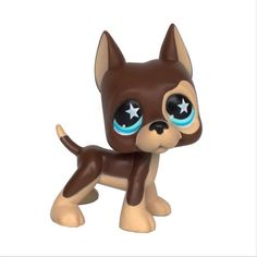 LPS Figure Toy Great Dane Puggy Dog Green Eyes