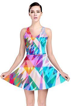 Triangle Feast_MirandaMol Reversible Skater Dress #pinkcess #mirandamol #fashion #cool #skater #dress #summer