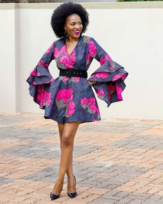 2019 Ankara Styles Most Beautiful African Ankara Styles. These 2019 Ankara styles you are about to see have been carefully selected for you to choose for your next event party. African Print Jumpsuit, African Print Dresses, African Dress, African Prints, African Attire, African Wear, African Women, African Style, African Beauty