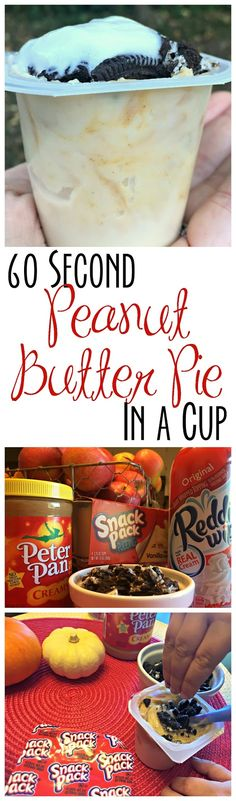 60 Second Peanut Butter Pie in a Cup