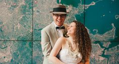 Draw inspiration from these real New England weddings, like Kaitlyn Chantry & Jason Luciana who were married at the Boston Museum of Science!