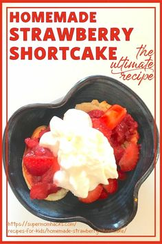 Have you ever had a homemade strawberry shortcake? If not, you're in for a real treat when you try my dad's Ultimate Homemade Strawberry Shortcake recipe. The Ultimate Homemade Strawberry Shortcake Recipe - SuperMomHacks | 4th of July food | 4th of July party | fresh strawberry shortcake | cake with strawberry topping | fancy strawberry shortcake | strawberry shortcake layered | tasty strawberry shortcake | 4th of July dessert | 4th of July food dessert | easy dessert recipes | easy desserts