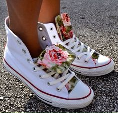 Spring florals#sneakers#
