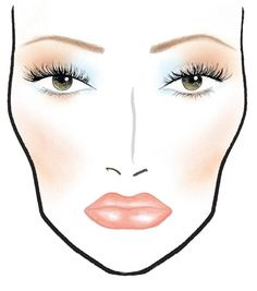colorgaurd Makeup Face Chart | Love* the blue paired with brown eye makeup from MAC's latest In ...