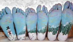 voeten geschminckt
