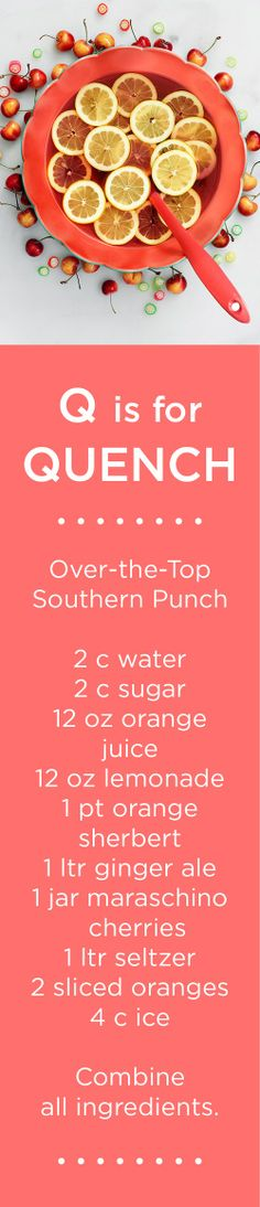 Q is for QUENCH