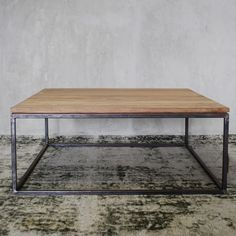 Reclaimed Teak wood coffee table with Iron leg - Melonwoods South Africa Solid Wood Coffee Table, Coffee Tables, Teak Wood, South Africa, Iron, Furniture, Home Decor, Decoration Home, Low Tables