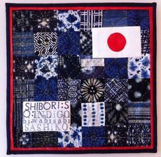 Japan mini quilt 12.5 x 12.5 inches.  Made by Jen Pezaro.