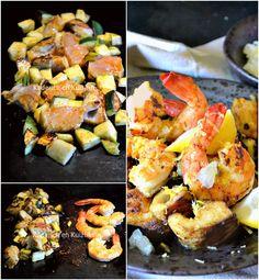 Cuisson plancha poisson - Lieu noir crevettes courgettes grillés à la plancha Simogas chez Kaderick
