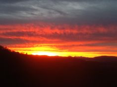 Sunrise in Candler, NC --- Stunning!!   (Candler is one of the suburbs of Asheville, NC.)