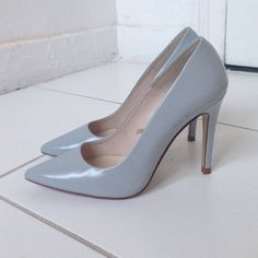 Baby blue Zara pumps Lightly worn pumps. 4 inch heel. Fits true to size. Some scratches on back heel and side. Nothing extremely noticeable, but want to make any buyer aware these are not brand new, this have some imperfections. Zara Shoes Heels
