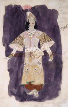 Alexander Golovin. Costume sketch to Ruslan and Ludmila opera. 1907 Bolshoi Theater. Story without intermission. 2013 Dom Naschokina Art Gallery