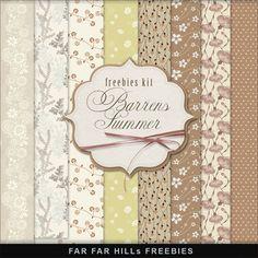 Far Far Hill: New Freebies Kit of Background - Barrens Summer