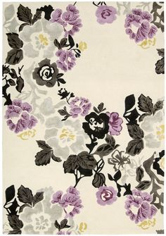 Hand-tufted Wildflower Ivory/ Lilac Wool Blend Rug by Nourison