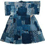 srithreads on Instagram: an indigo dyed shibori juban or under kimono from Tohoku.  cotton. circa 1920