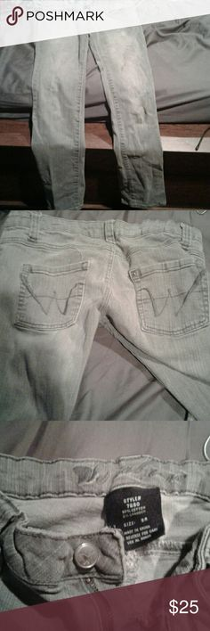 Jeans Grey straight legs Wet Seal Jeans Straight Leg